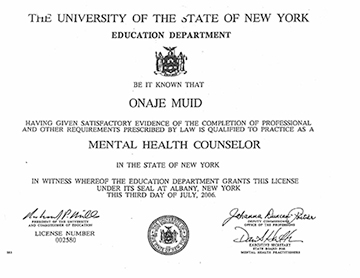 Mental Health Certificate